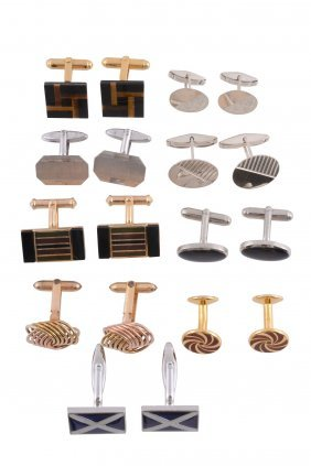 A Collection Of Cufflinks , To Include A Pair Of Silver
