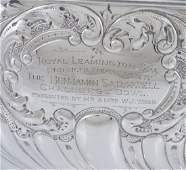 A late Victorian silver pedestal rose bowl by Barker