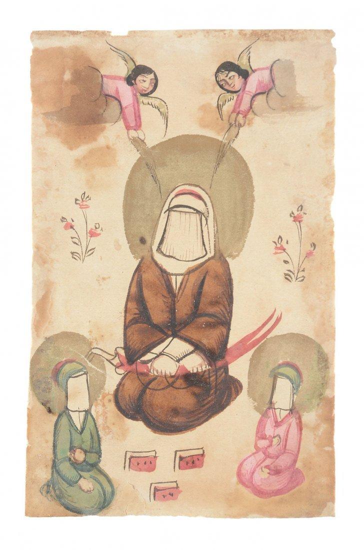 A Persian miniature from a dispersed manuscript, - 2