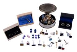 A collection of cufflinks, makes including: Links of