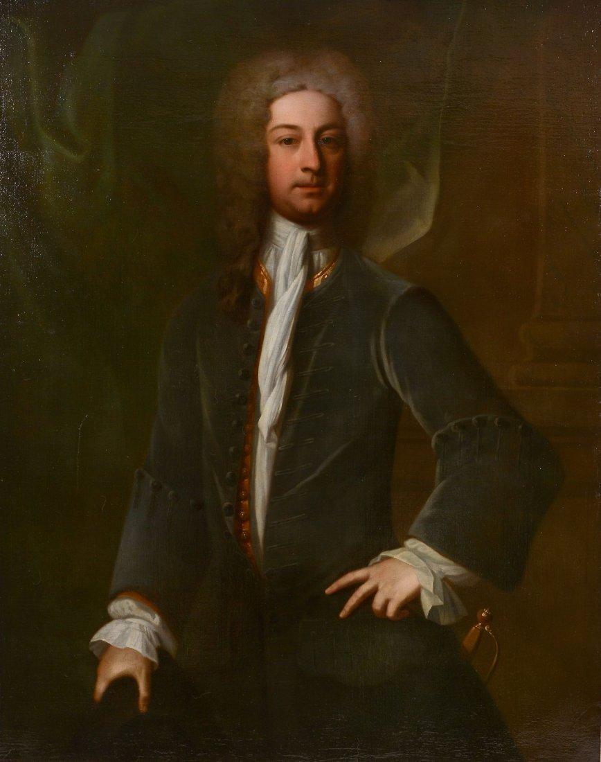 British School (18th century) - Portrait of a gentleman