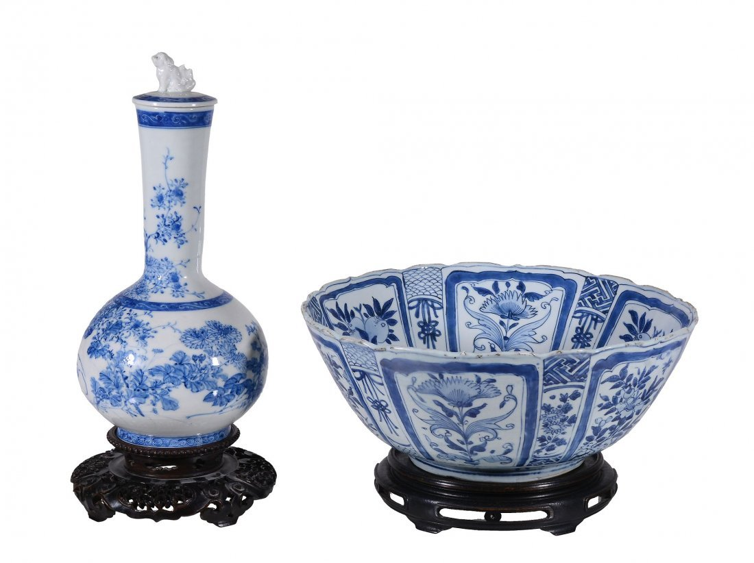 A Chinese blue and white bowl, in Wanli style