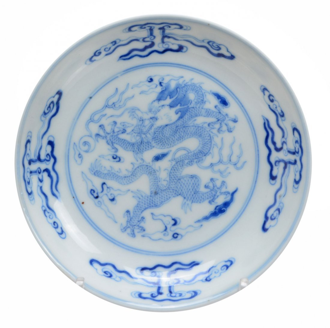 A pair of Chinese blue and white bowls decorated with