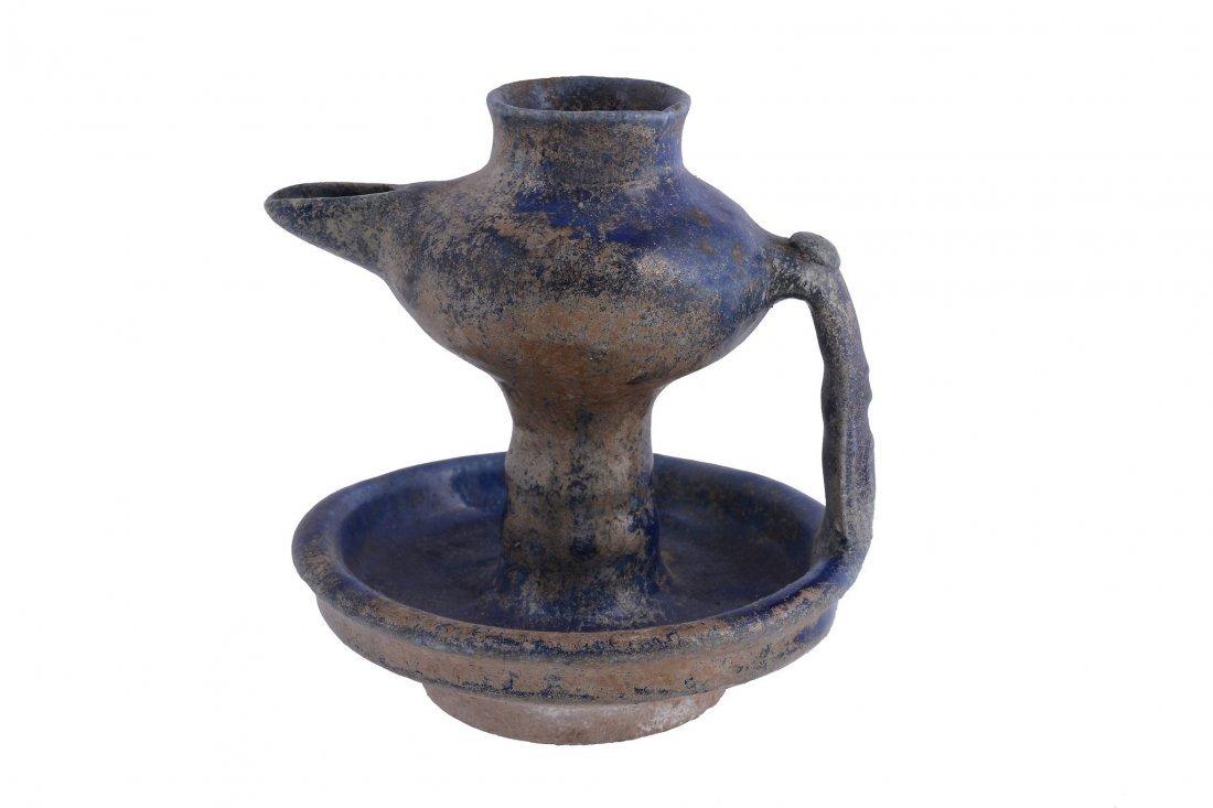 A Small Kashan Lustre Jug, 12th Century, the bulbous