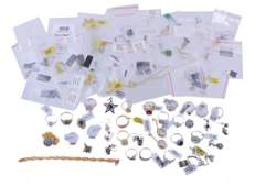 A collection of silver coloured jewellery