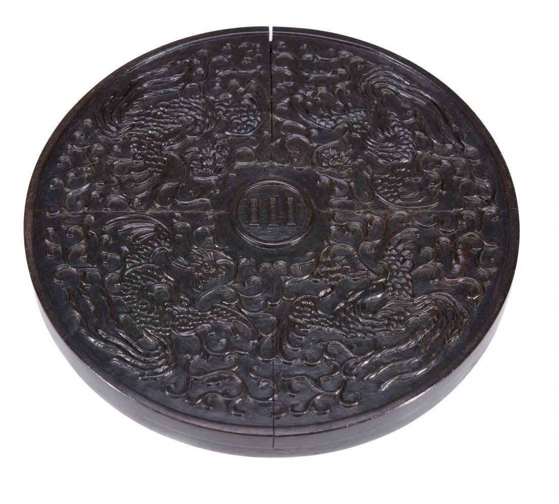 A Chinese bronze Warring States style mirror, thinly - 3