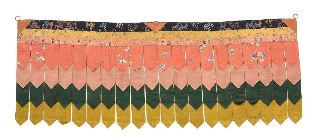 A fine Tibetan Temple banner, made from 18th and 19th