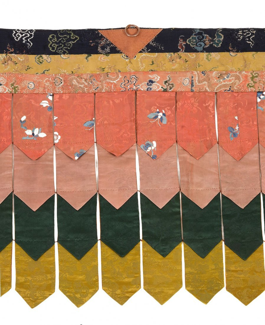 A fine Tibetan Temple banner, made from 18th and 19th - 2