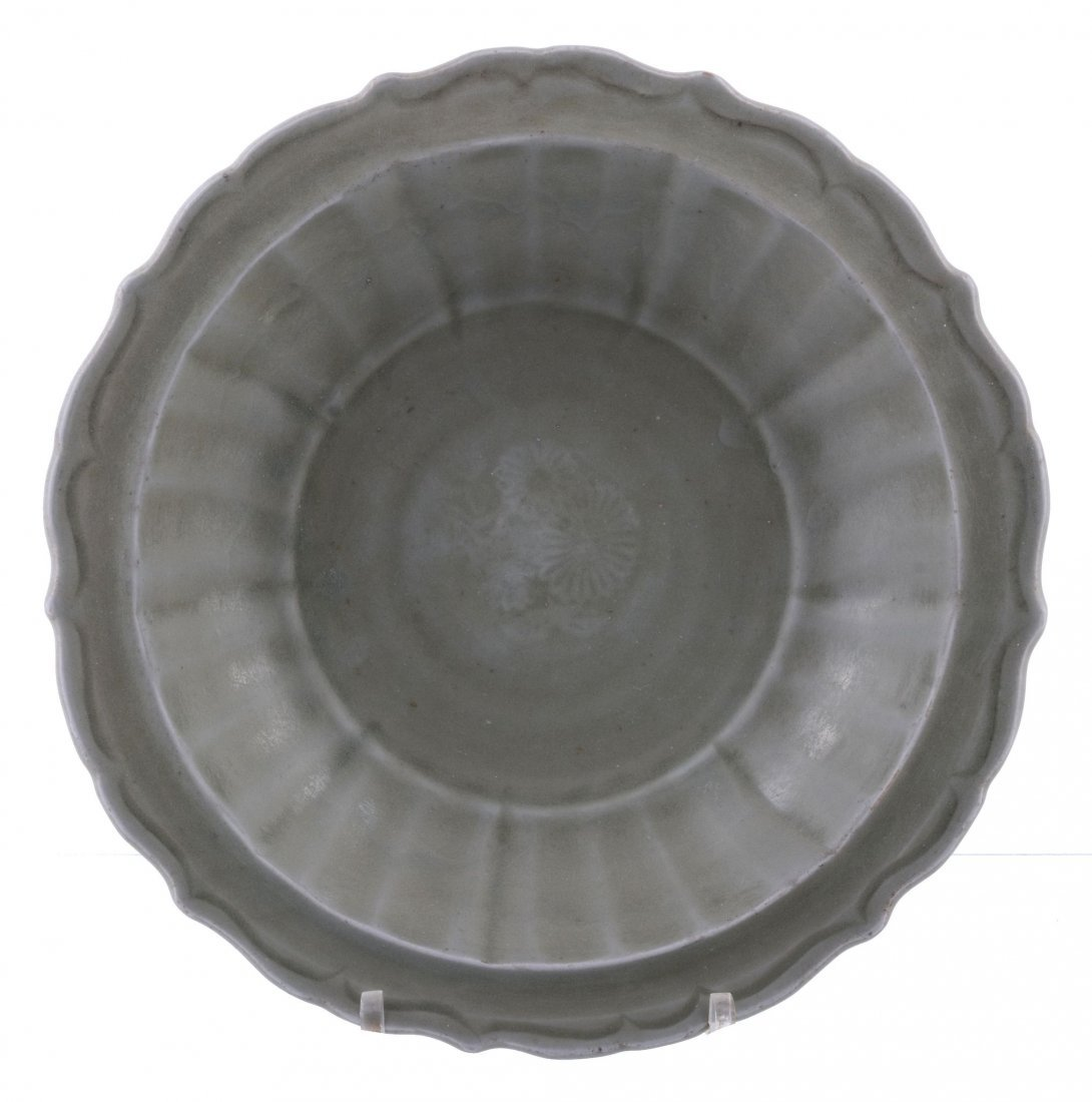 A Chinese celadon bowl, Yuan-early Ming Dynasty,
