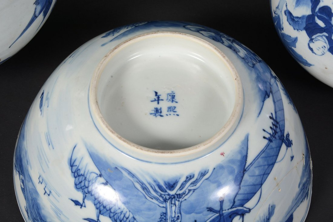 A Chinese blue and white vase , 17th century - 5