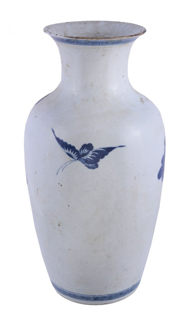 A Chinese blue and white vase , Qing Dynasty - 2