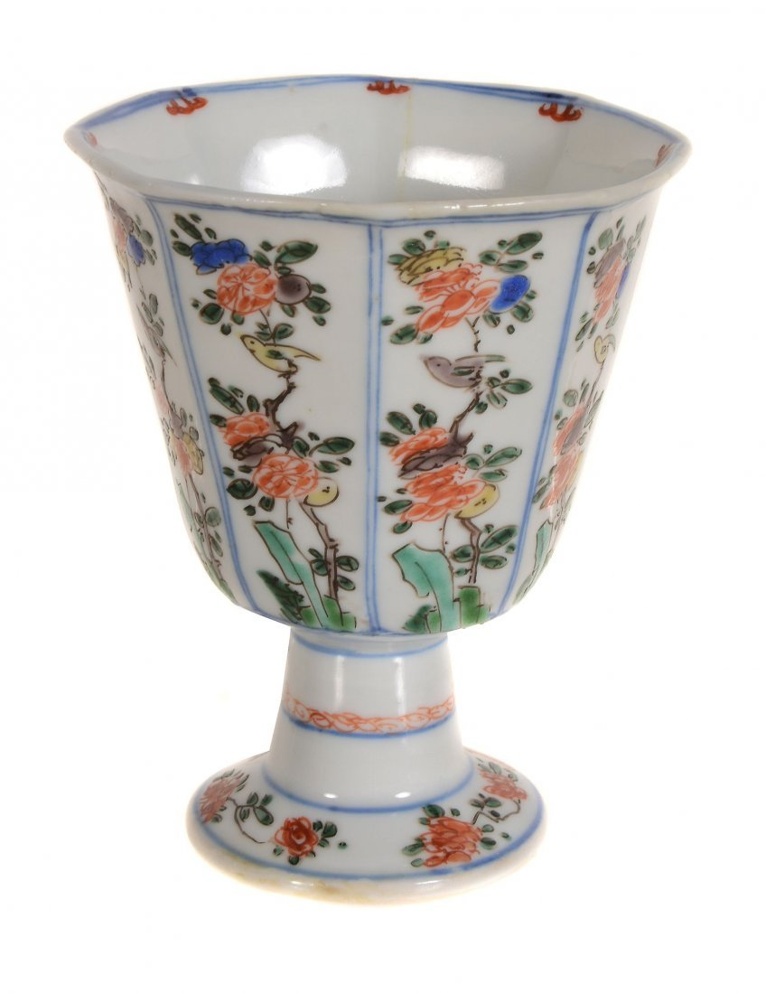 A Chinese Famille Verte Stem Cup , Kangxi