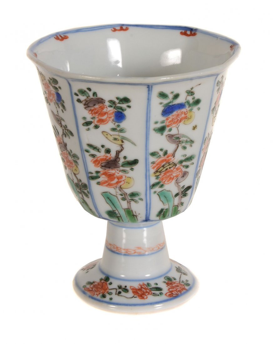A Chinese Famille Verte Stem Cup , Kangxi - 2