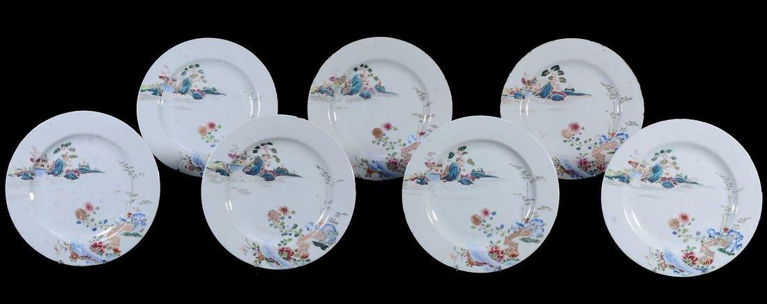 A set of Thirteen Chinese Export plates , Qianlong