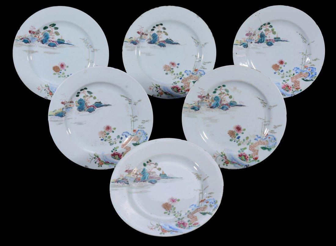 A set of Thirteen Chinese Export plates , Qianlong - 2