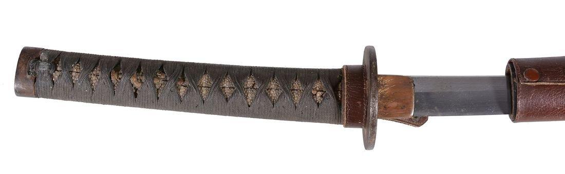 Hizen Tadayoshi: A Katana Blade of slender koshi-zori, - 2