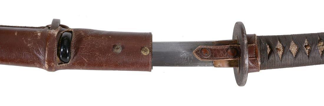 Hizen Tadayoshi: A Katana Blade of slender koshi-zori, - 3