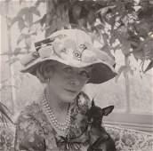 Cecil Beaton  a black and white portrait