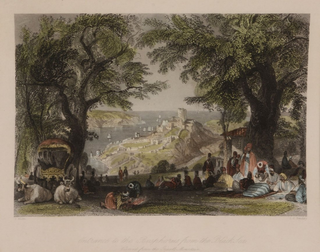 After Dubois (19th century) - Vue de Geneva;Byron's - 2