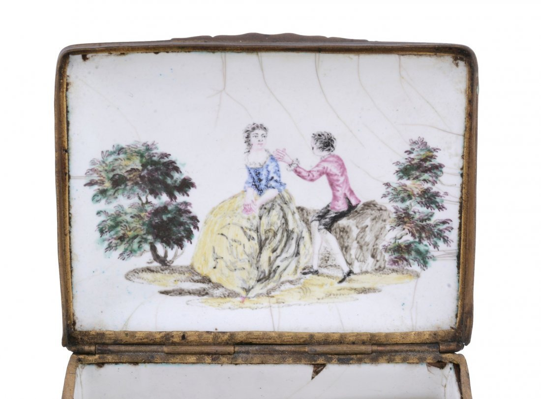 An enamel table snuff box, probably London, circa 1770 - 2