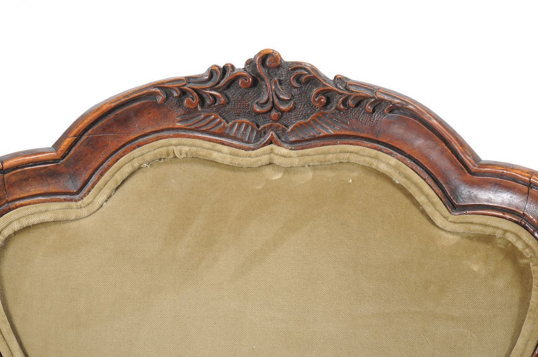 A pair of Louis XV walnut fauteuils, second half 18th - 2