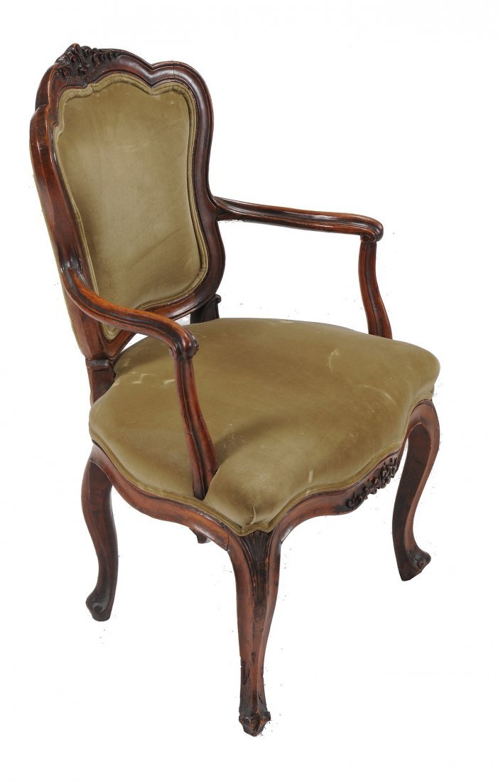 A pair of Louis XV walnut fauteuils, second half 18th - 4