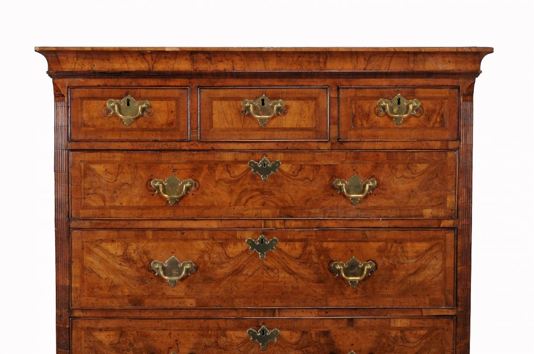 A George II walnut chest on chest , circa 1740, 170cm - 2