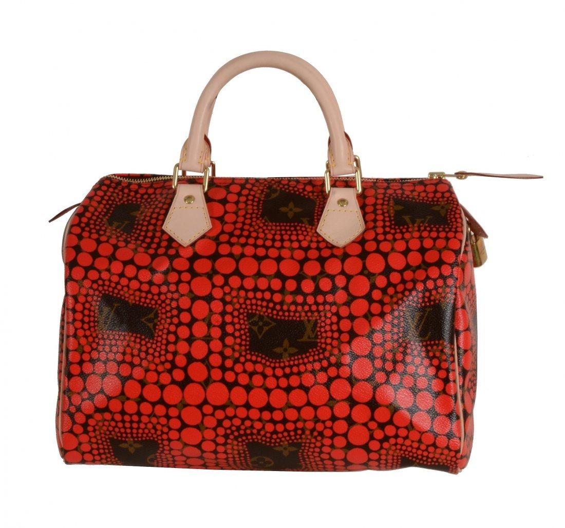 Louis Vuitton, Yayoi Kusama, Monogram, Red Waves,