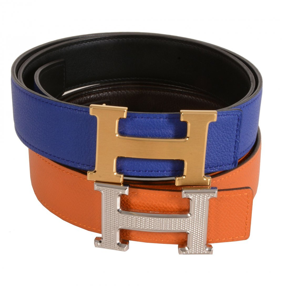 Hermès, Constance, two leather reversible 32mm