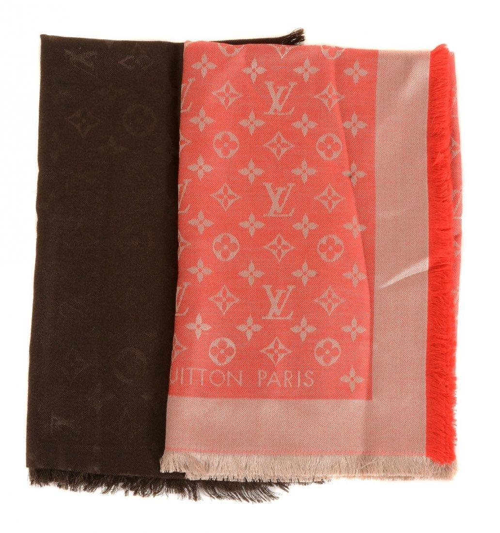 Louis Vuitton, Monogram, two silk and wool square