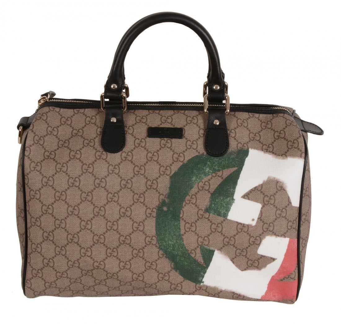 Gucci, Joy Boston, Italian Flag , a coated canvas