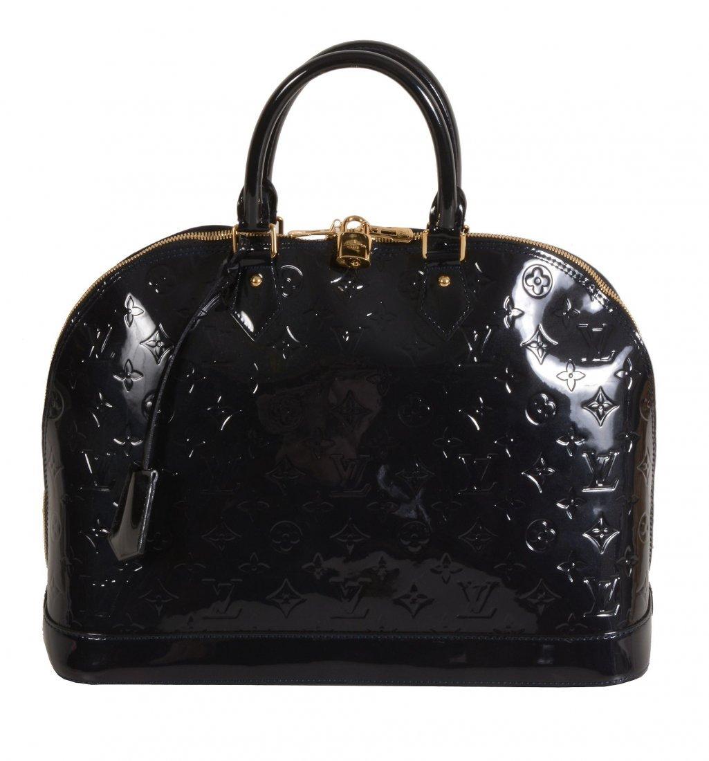 Louis Vuitton, Alma MM, Bleu Infini, a leather veau de