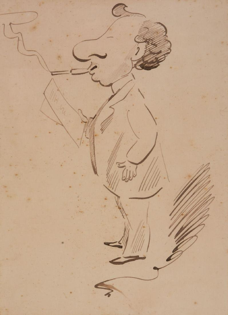 Sir Max Beerbohm  (British 1872-1956) - Caricature - 2