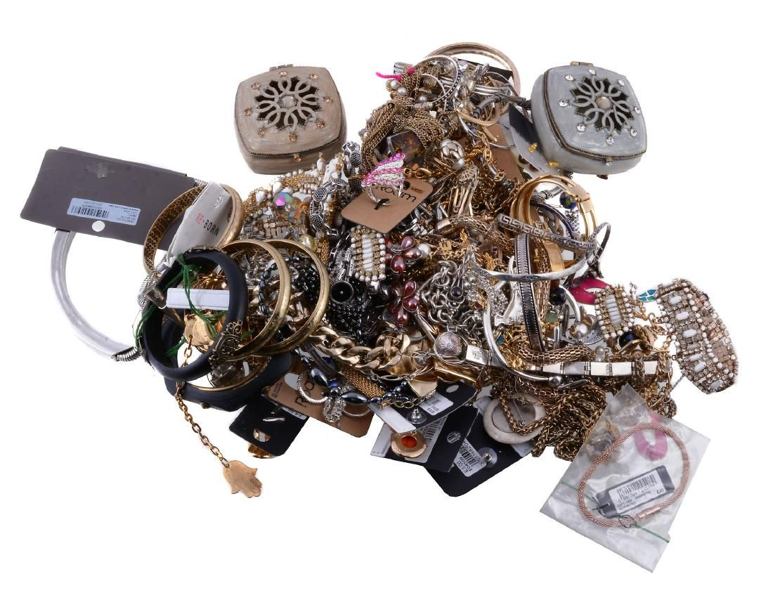 A collection of costume jewellery , to include various