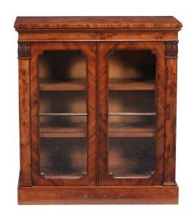 An early Victorian mahogany dwarf bookcase , circa
