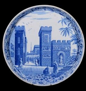 A Spode blue and white printed pearlware Êstle of