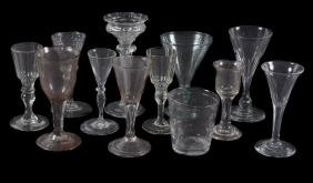 Five various French drinking glasses , 17th/18th