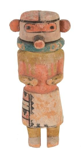 A Kachina Hopi Doll The figure standing, with typical