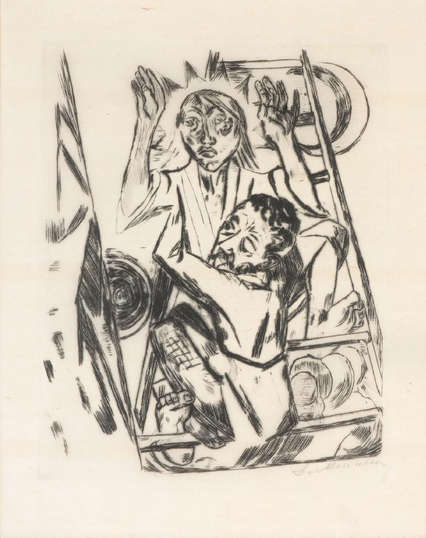 Max Beckmann (German, 1884-1950) - Jakob ringt mit dem