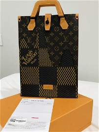 Louis Vuitton x Nigo Tote Damier Ebene Giant Mini Brown