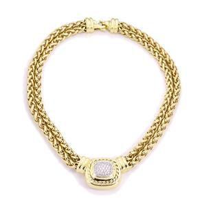 David Yurman Albion Diamond 18k Yellow Gold Pendant