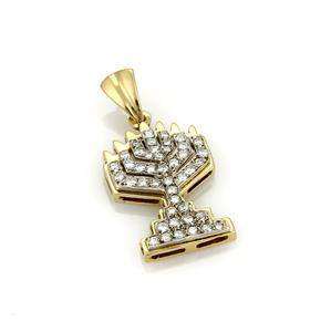 Vintage Diamond 14k Yellow & White Gold Menorah