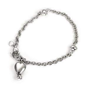 Tiffany & Co. Vintage Sterling Silver Heart Charm Chain