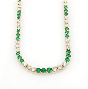 Tiffany & Co. 9.50ct Diamonds Emerald 18k Yellow Gold