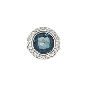 David Yurman 1.00ct Diamond Topaz Sterling Silver Cable