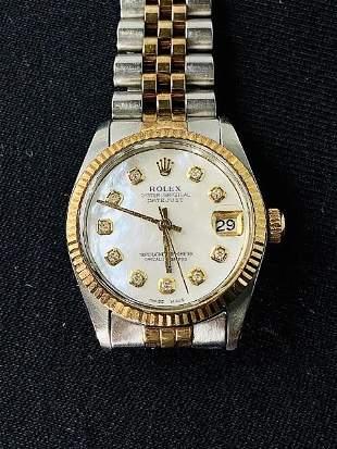 Rolex Mother of Pearl Diamond Dial, Medium