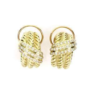 David Yurman Diamond 14k Yellow Gold Triple Cable