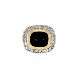 David Yurman Albion Diamond Onyx 18k Gold 925 Silver