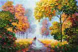 ANTANENKA ** STROLLING HAND IN HAND ** SIGNED CANVAS