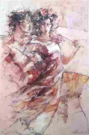 BENFIELD ** HEAVENLY DANCE ** SIGNED CANVAS